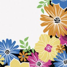 16 Summer Bold Blooms Paper Party Napkins